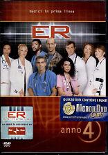 E.R. - Medici In Prima Linea Stagione 4 - 4 DVD NUOVO E SIGILLATO, PRIMA STAMPA