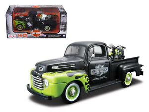 MAISTO 1948 Ford F1 Pickup Truck Harley Davidson With 1948 FL Panhead Motorcycle