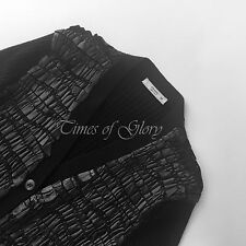 Women's Medium Knit V Neck Button Wool Blend Jumpers & Cardigans