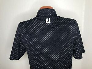 Men's FootJoy Golf S/S Polo Golf Shirt Size Small (S) Athletic Fit - Polka Dots