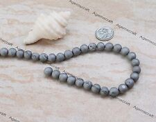 20 matte Silver tone Titanium electroplated Drusy Agate gemstone beads 8mm New