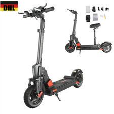 10 Zoll Elektroroller Faltbare E-Scooter Elektro Scooter Mit Sitz 45Km/h 500W DE