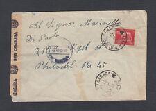 ITALY 1946 WWII CENSORED COVER CASACONDITELLA TO PHILADELPHIA PENNSYLVANIA USA