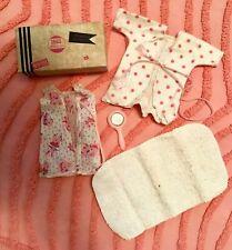 Vtg Vogue Ginny Doll 1953 Travel Suitcase W/Sleeptime Accessories #840 W/Mirror