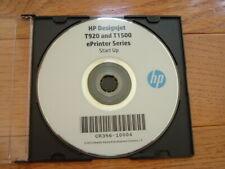 Original Start up disk for HP DesignJet T1500/T920 Plotters.Drivers,Manuals,DVD