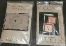 2 New Nancy Doan Quilt Embroidery Complete Kits Circle of Angels Garden Friend