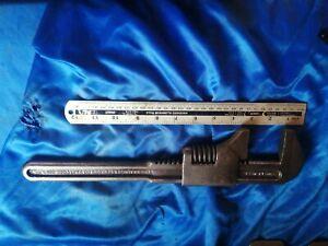 """The Billings & Spencer Co Vintage Adjustable Wrench Hartford USA 15""""  DODGE ETC"""