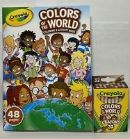 Crayola Colors of the World Multicultural Crayons 32 Pack and Activity Book