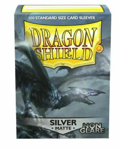 Non-Glare Matte Silver 100 ct Dragon Shield Sleeves Standard Size 10% OFF 2+