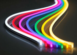 12V Flexible LED Strip Waterproof  Neon Lights Silicone Tube 5M + Power Supply