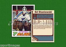 Ed Staniowski - St. Louis Blues - Custom Hockey Card  - 1976-77
