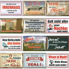 lustige Sprüche Blechschilder Blechschild Schilder 20x30cm Geschenke