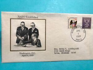 #1008 Nato Established not FDC Westport Collectors Cachet
