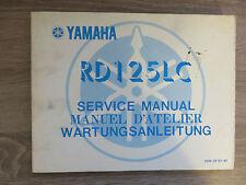 Yamaha Wartungsanleitung RD125LC RD125 10W service manual manuel D`Atelier