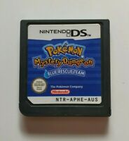 Pokemon Mystery Dungeon Blue Rescue Team Nintendo DS Game - Cart Only, GENUINE