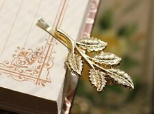 2x Shiny Golden Leaves Hair clips Hair Pins Hair accessory Wedding