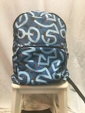 Coach Keith Haring Sky Blue Hula Dance Print Packable Backpack F67409
