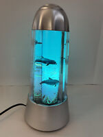 Revolving Motion Lamp Fish  Dolphins Aquarium  Night Light 14""