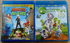 Kid Blu-ray Disc Lot - Monsters vs. Aliens (Used) Planet 51 (Used)