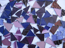 """100g - MIXED PURPLE"" Handcut Stained Glass for MOSAIC & Glass Crafts"