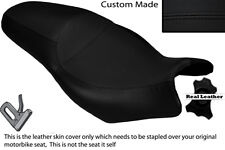 BLACK STITCH CUSTOM FITS KAWASAKI KLE 650 VERSYS 06-13 DUAL LEATHER SEAT COVER
