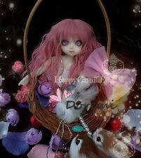 1 4 7-8 BJD parrucca  MSD SD DZ DOD LUTS Dollfie Doll  Ricci pink Hair