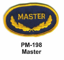 """3"""" MASTER Embroidered Military Patch"""