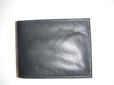 Soft  Cowhide Leather Credit Card Style Billfold Wallet - Black- New