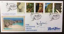 Benham 11.4.1995 National Trust Centenary, Radio Times FDC Signed HUGH SCULLY