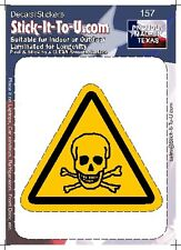 Skull Decal Caution Warning