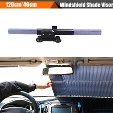 1x Retractable Car Windshield Sun Shade Window Screen Cover UV Protection Black