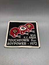 BSA KC AREA touchdown For Boypower 1972 Patch Chiefs