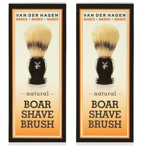 Van Der Hagen Basics, Natural Boar Shave Brush (2 Pack)