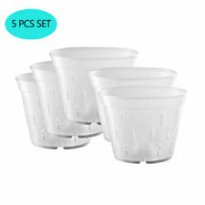 5.5 inch Orchid Clear Flower Pot Plastic Planter Breathable Slotted-5Pack