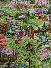Cuarto Gordo Tela Algodón Quilting Quilters casa rural jardín tesoros atemporales