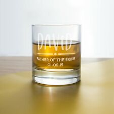 Custom Whiskey glass for wedding favour | Personalised Engraved Whisky Glasses