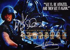 "STARSHIP TROOPERS cast(x3) Authentic Hand-Signed ""Casper Van Dien"" 11x14 Photo C"