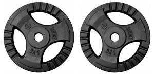Kawmet Weight Disk Plate SET:2 x 5 KG - 30,5 mm hole.
