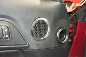 American Car Craft 2pc Midrange Speaker Trim Rings For Ford 2015-2016 Mustang