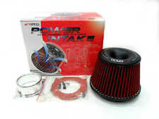 "Apexi Type 3"" Inlet Power Air Intake Red Racing Cone Air Filter Free Flange"