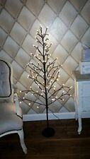 4ft Rustic Shabby Chic Luxury Flat Twig Christmas Tree Snow Dusted And Pre-Lit