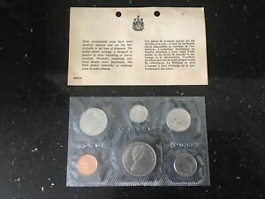 Canada 1969 Uncirculated Silver/Copper Coin Set (6) Sealed. Immaculate