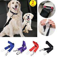 2Pack Dog Car Safety Seat Belt Clip Cat Pet Adjustable Harness Lead Safe Straps