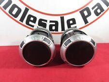 JEEP WRANGLER AC Air Heater Dash Vent Outlets Satin Silver 2pc NEW OEM MOPAR
