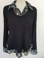 Dunnes black blouse top size 20