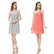 Chiffon One Shoulder Sleeve Party Dresses for Women