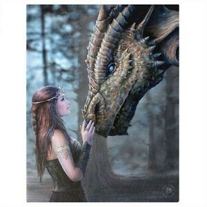 ONCE UPON A TIME CANVAS PICTURE SMALL PRINT ANNE STOKES GOTHIC FANTASY DRAGON