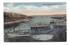 Vintage postcard Harbor Scene, Tacoma, Washington, USA. Unposted
