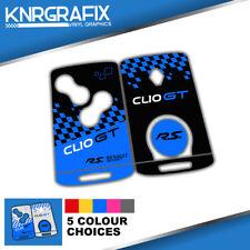 KNR0029 CLIO GT LINE MK4 IV RS RENAULT -  KEYFOB SKIN - KEY STICKER - 5 CHOICES