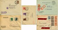 5 GERMANY Berlin Postwar Occupation Covers Postage Stamps Collection 1946-1950